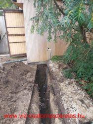 Vízszerelés, kútakna készítés, kerti csap szerelés