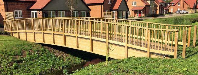 Kerti és közterületi híd készítése