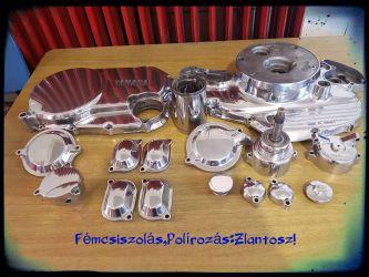 Motor kiegészítők polírozása,csiszolása