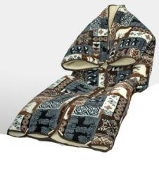 TV kabát gyapjúból, mintás takaró 160*200  ( Tv zsák)