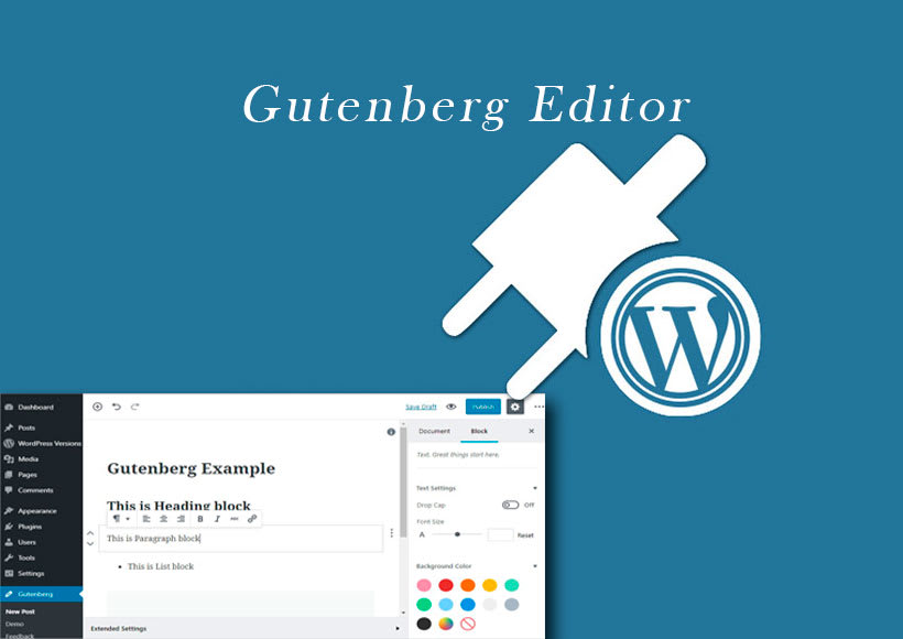 Wordpress plugin gutenberg