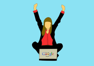 lady-happy-with-google