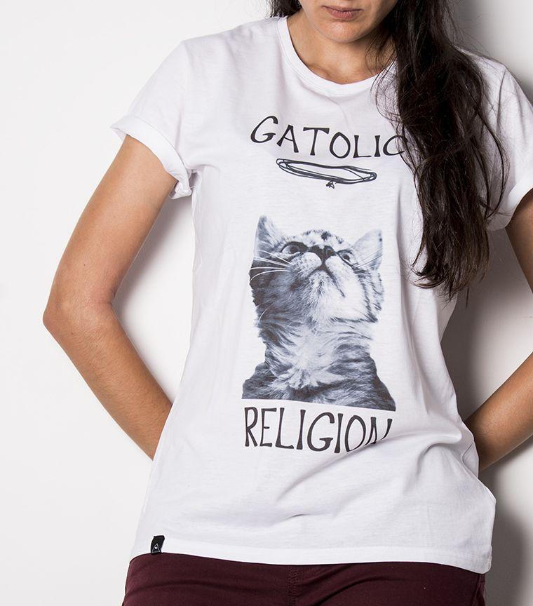 Camiseta Gatolic Religion