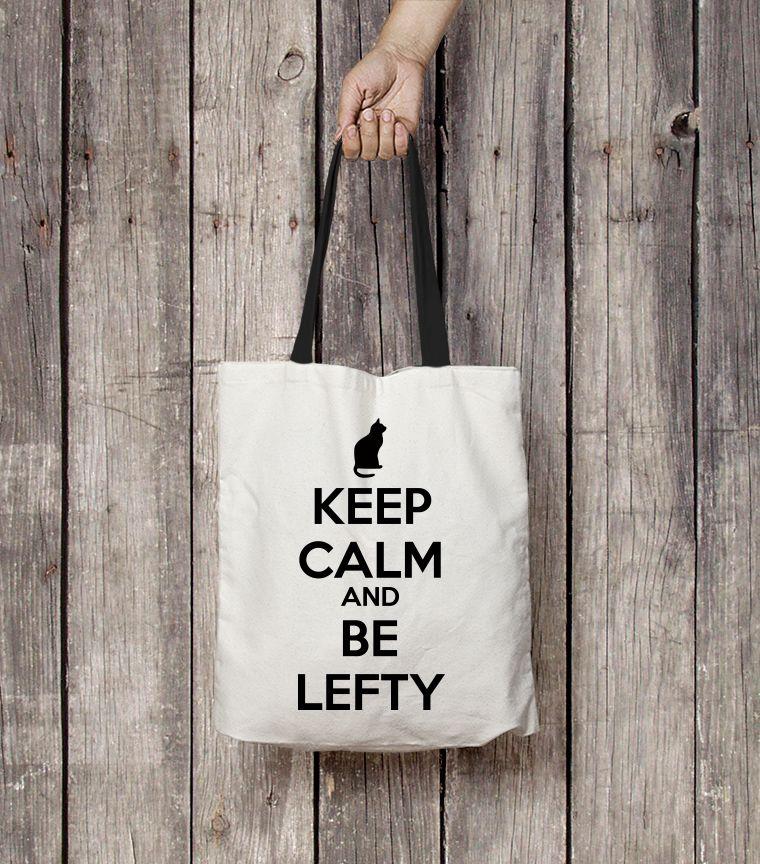 Bolsa Keep Calm and be Lefty
