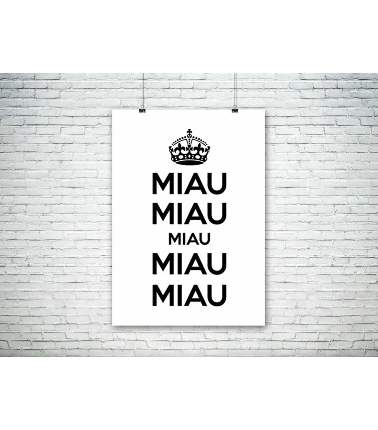 Poster Miau Miau Miau