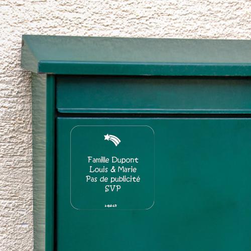 Étiquette boîte aux lettres : marquer son nom et en finir avec la publicité