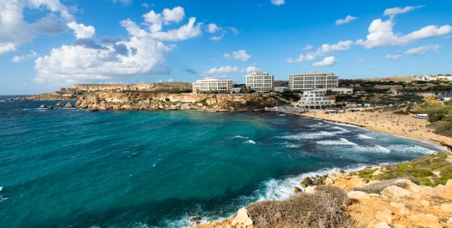 Golden Bay, Malta - https://www.flickr.com/photos/vasildakov/15602446416/