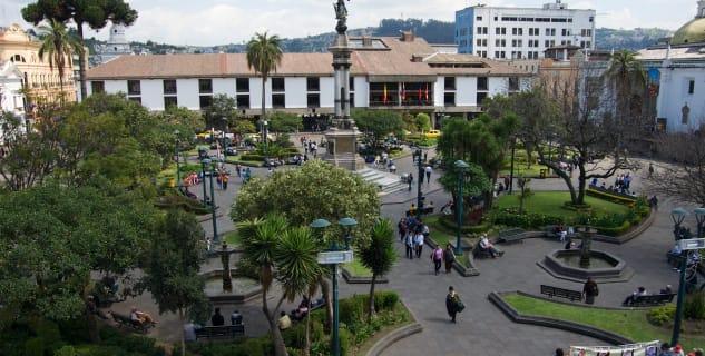 Plaza Grande nebo také plaza de la Independencia - https://www.flickr.com/photos/robnunn/12154489995/