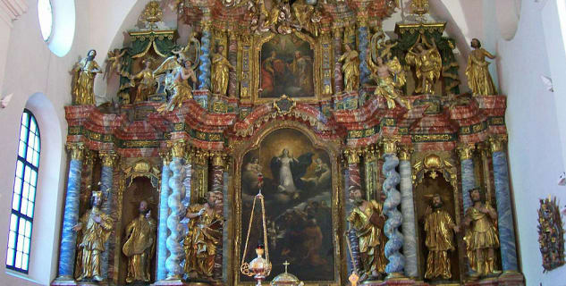 Varaždinská katedrála - https://commons.wikimedia.org/wiki/File:Oltar_Vara%C5%BEdinska_katedrala.jpg?uselang=cs