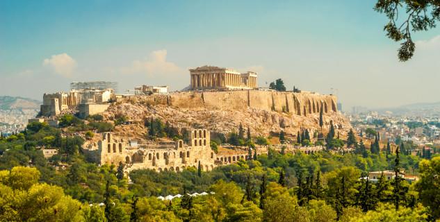 Měsíc nad Akropolí -