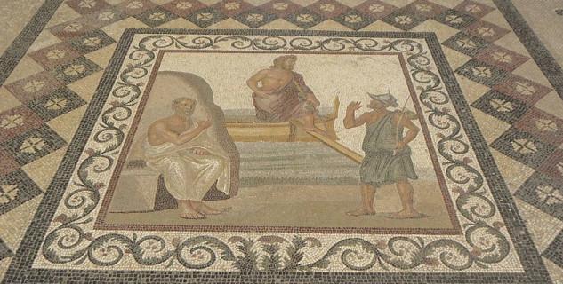 Mozaika, Archeologické muzeum Kosu - https://commons.wikimedia.org/wiki/File:Kos_museum_mos03.JPG