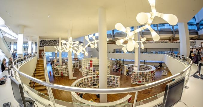 Central Library - https://www.flickr.com/photos/130959448@N06/16308202937/