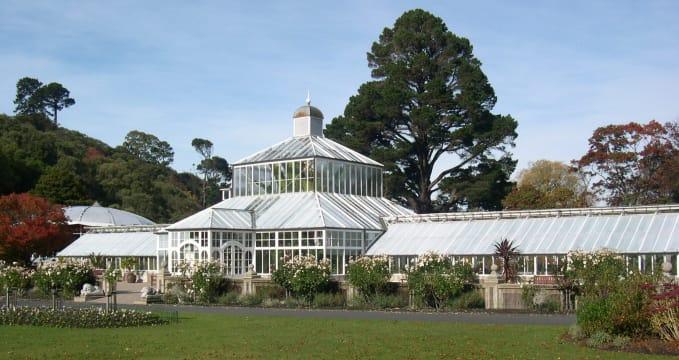 Skleník v botanických zahradách - https://www.flickr.com/photos/dunedinnz/5016616080