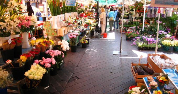 Květinový trh Cours Saleya -
