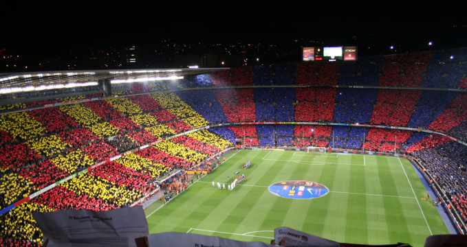 Camp Nou - https://www.flickr.com/photos/missha/2162118923