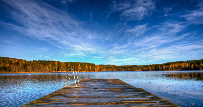 Jezero Sognsvann  - https://www.flickr.com/photos/oddne/5089591211/