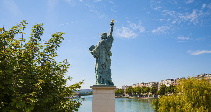 Socha Svobody v Paříži -