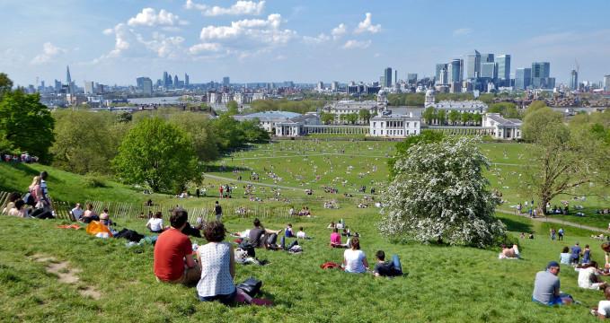 Pohled z Greenwich Park - https://www.flickr.com/photos/hobler/27820513163