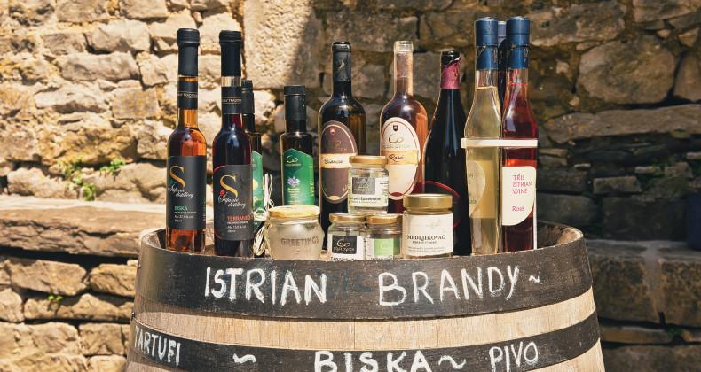 Výběr istrijských vín v Chorvatsku