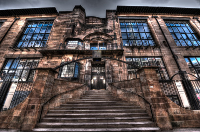 Umělecká škola v Glasgow - https://www.flickr.com/photos/lex-photographic/8581195858/