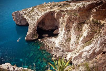Blue Grotto na Maltě - https://www.flickr.com/photos/bs0u10e0/14006586834/in/photostream/