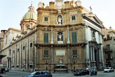 Quattro Canti - https://en.wikipedia.org/wiki/San_Giuseppe_dei_Teatini#/media/File:Palermo-San-Giuseppe-dei-Teatini-bjs2007-01.jpg
