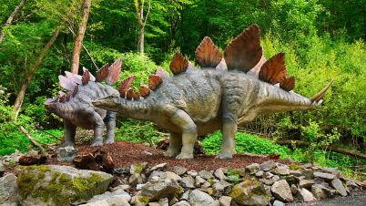 Dinopark Košice - https://cs.wikipedia.org/wiki/Soubor:Stegosaurus_02_DinoPark_Ko%C5%A1ice.jpg