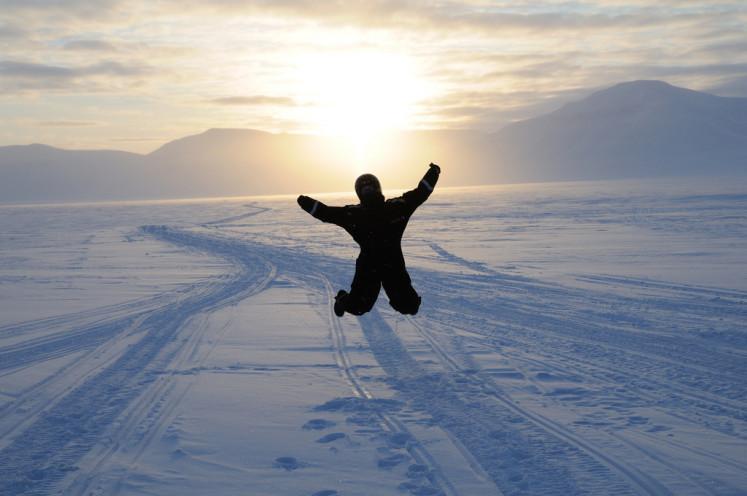 Špicberky a výlet na sněžném skůtru k ledovci Von Post
