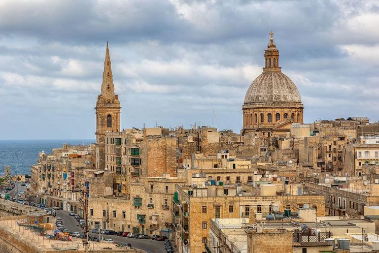 Panorama hlavního města Malty - Valletty.