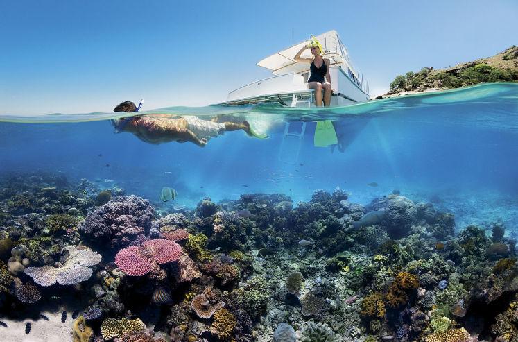 Šnorchlování na Velkém bariérovém útesu v Queensland