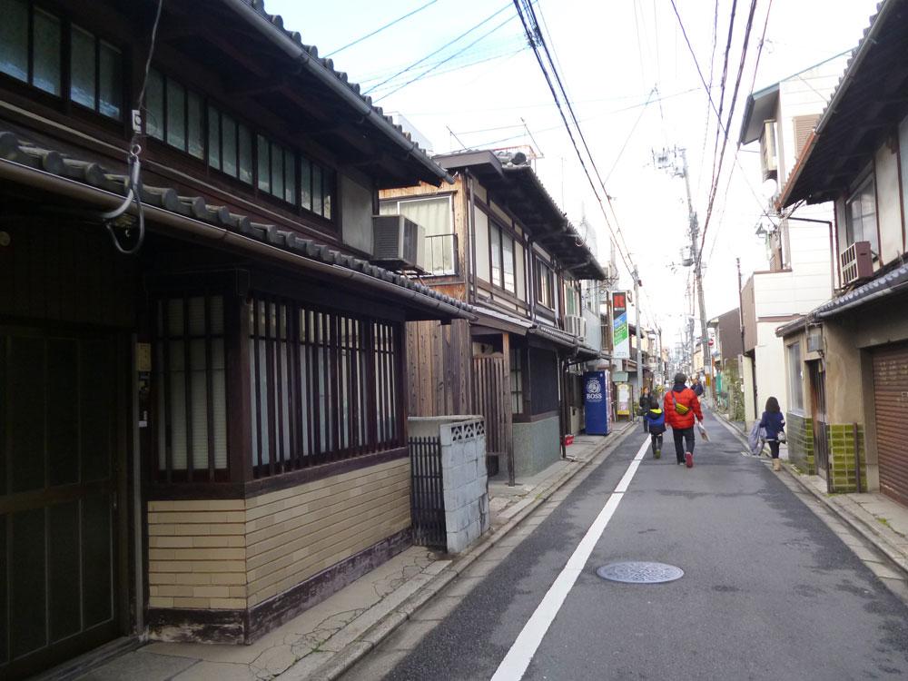 Ulice v centru Kjóta