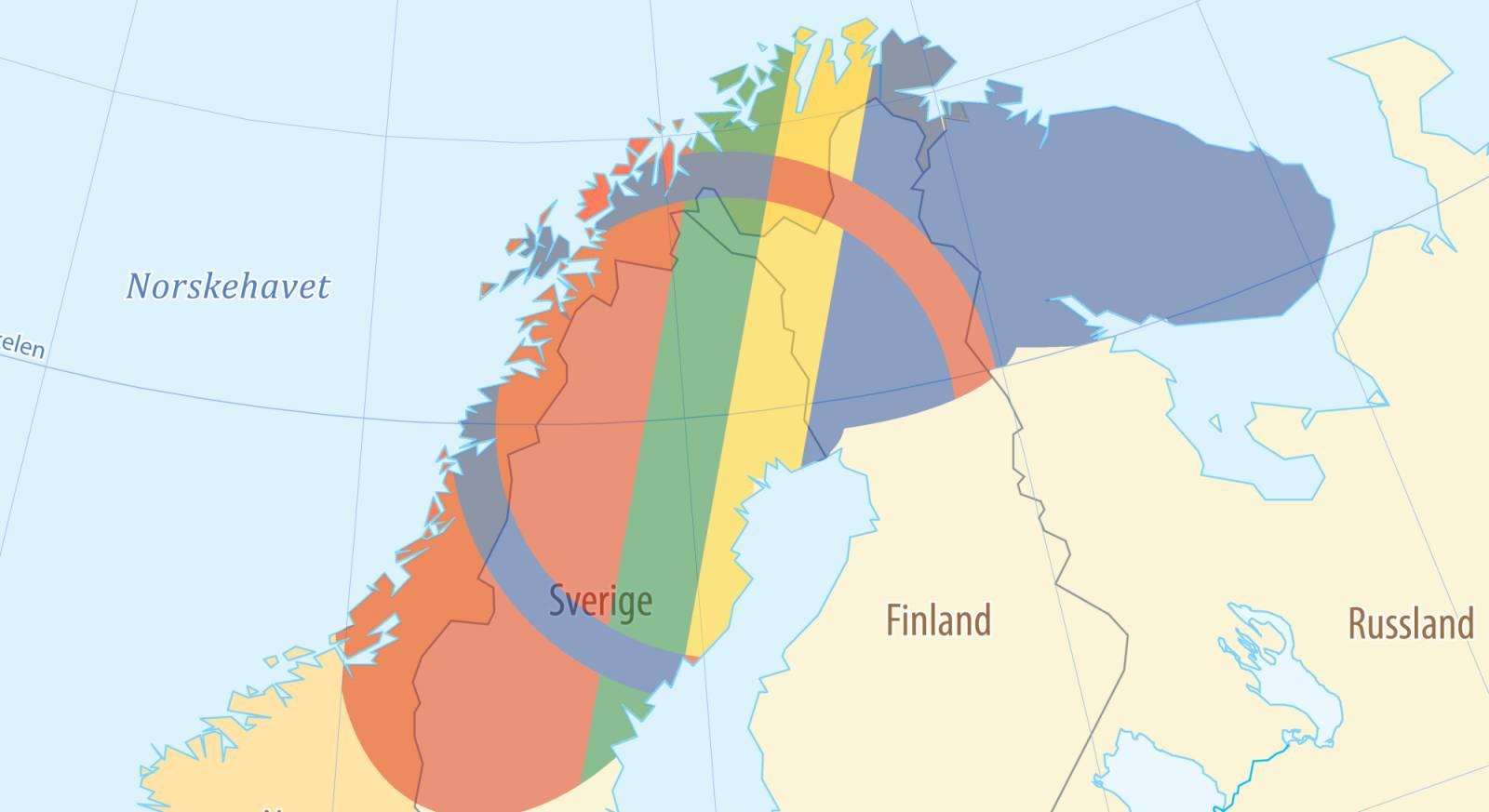 Sápmi strekker seg over fire land