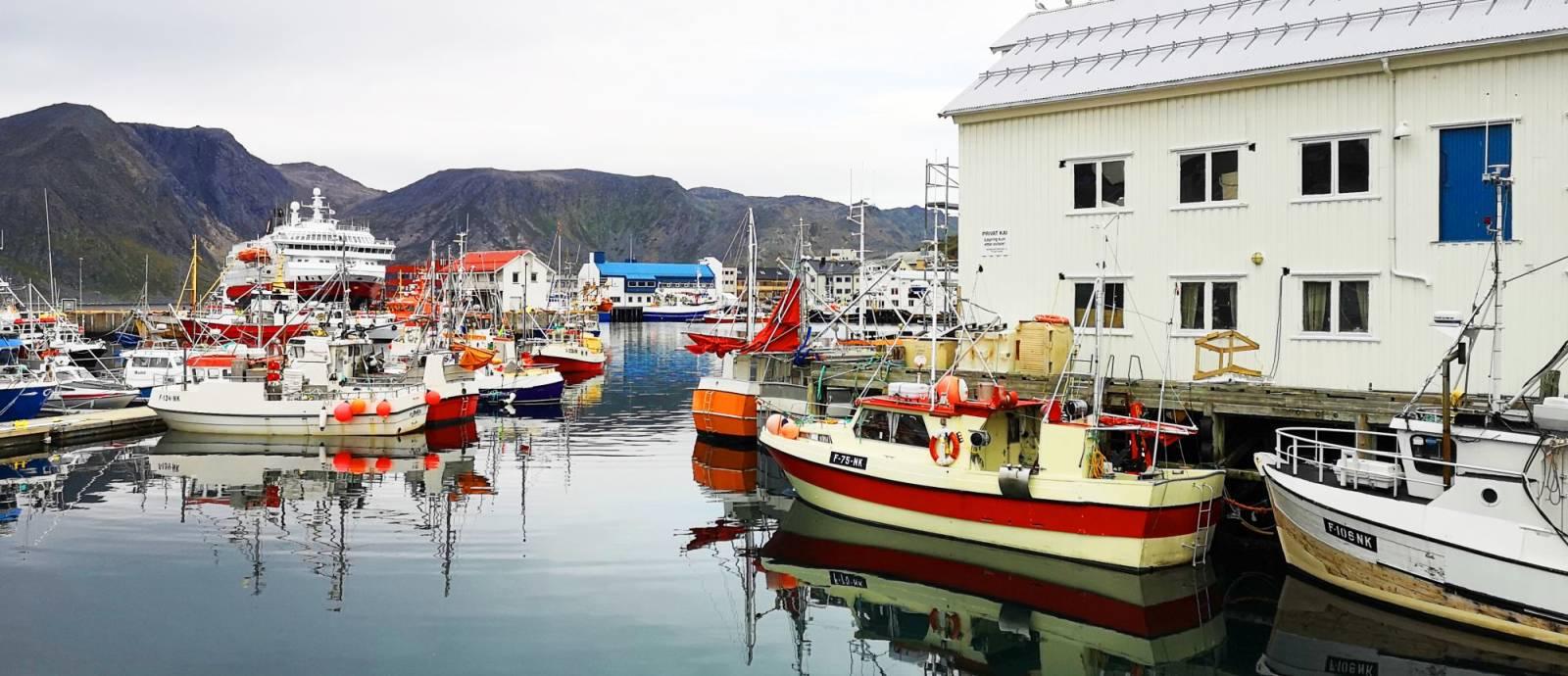 Havna i Honningsvåg. Foto: Ronny Wilhelmsen