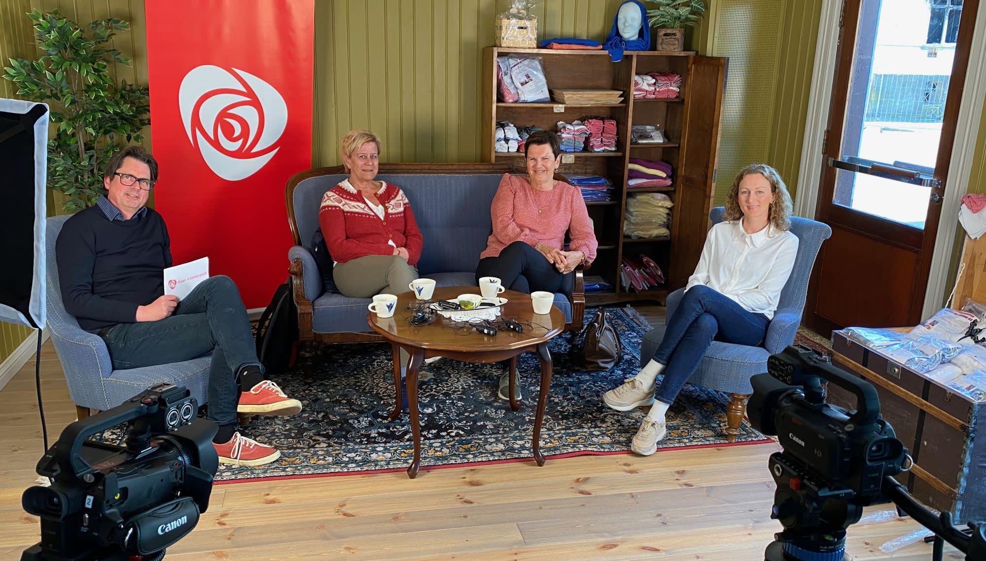 Fra venstre: Paal Eckhoff Salvesen, Bente Trulsvik, Agnes Nordgaard og Silje Ibsen.