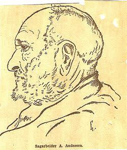 Anders Andersen, portrettert i Arbeiderbladet i 1927.