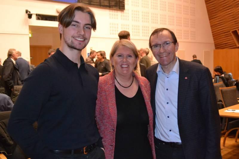 Erik Hulleberg (AUF), Aud M Riseng og Espen Barth Eide
