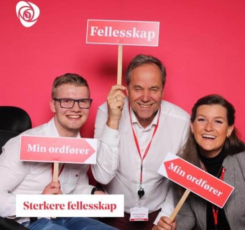 Johannes Kiese, Kjell Maartmann-Moe og Thilde Marie Børsum på landsmøte 2019