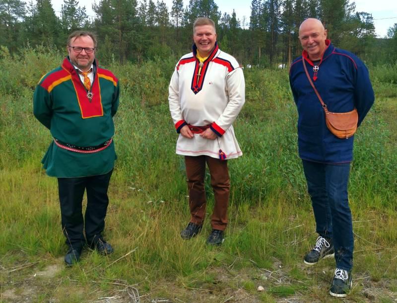 F.v Jørn Are Gaski, Ronny Wilhelmsen, Arild Pettersen Inga