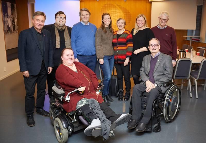 Arbeiderpartiets ressursgruppe for politikken for funksjonshemmede. Foto: Ivar Kvistum