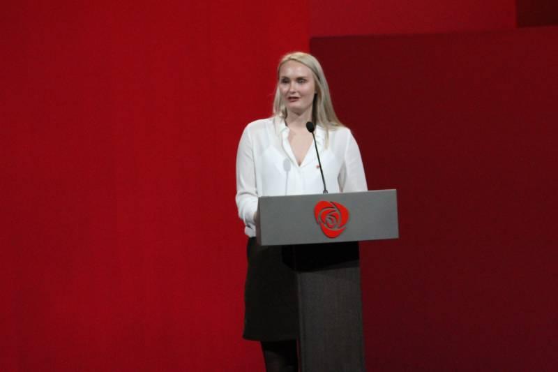 Kristine Hallingstad på landsmøtet2017