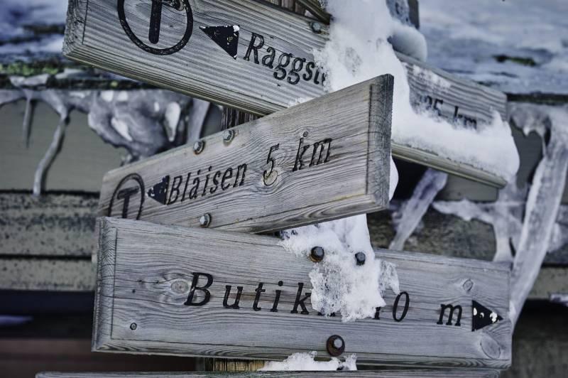 Snødekte turskilt på fjellet. Foto: Øivind Haug