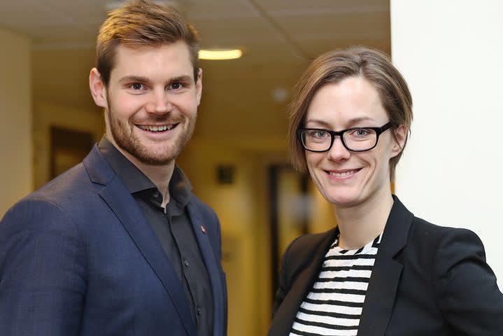 Anette Trettebergstuen og Nils Kristen Sandtrøen
