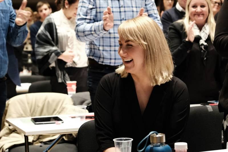Tonje Brenna etter nominasjonsmøtet valgte henne som Viken Aps førstekandidat.