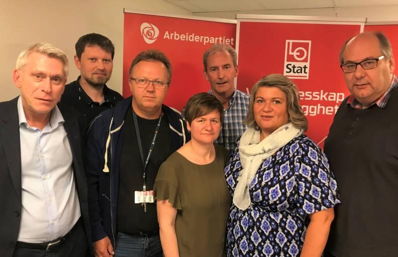 Samarbeidskomiteen mellom LO og Ap i Innlandet støtter de streikende sykehusarbeiderne i kampen om pensjon fra første krone