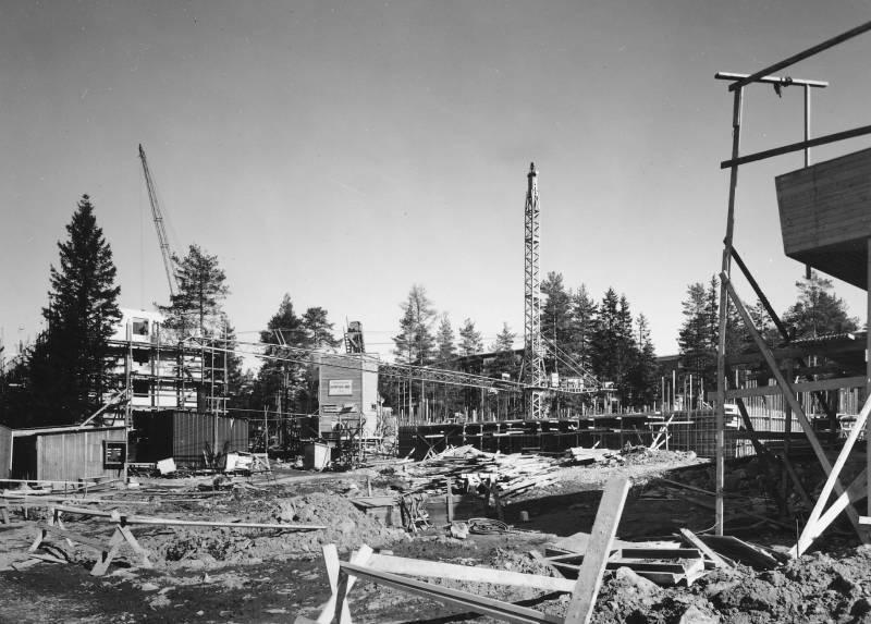 Bilde av byggeplass fra riksarkivet