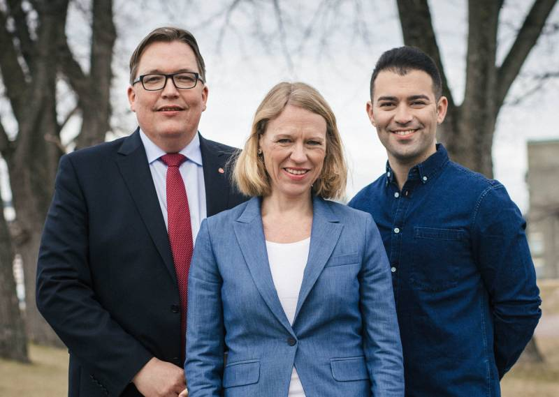 Sverre Myrli, Anniken Huitfeldt og Mani Hussaini