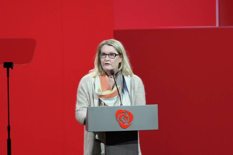 Gro Bråten på Arbeiderpartiets landsmøte 2017