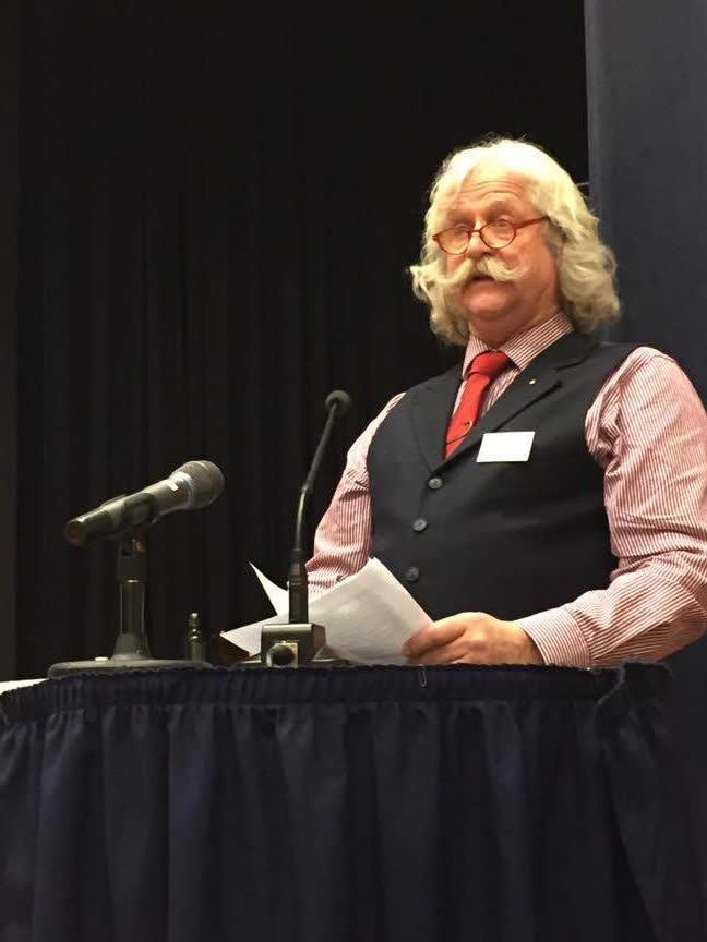 Einar Hyllvang på årsmøtet.