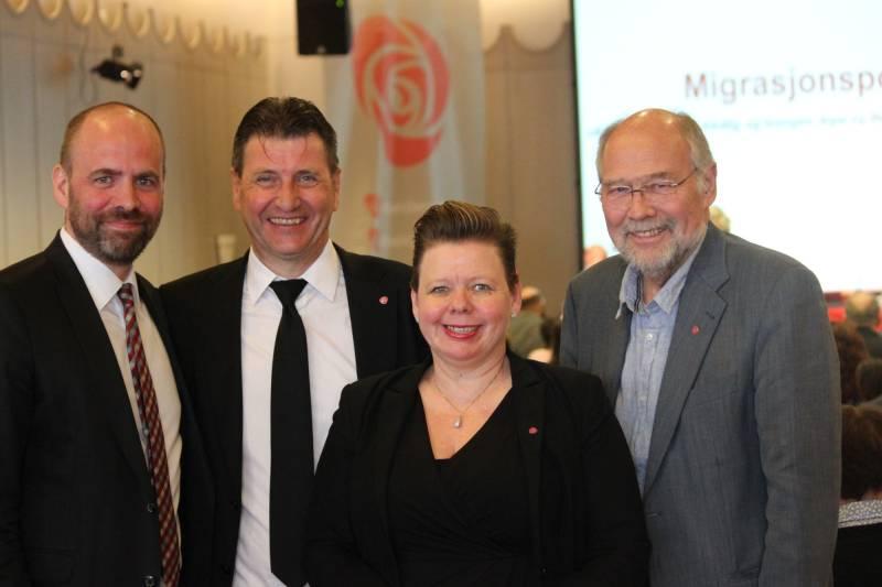Stortingsrepresentantene Arild Grande, Stein Erik Lauvås, Svein Roald Hansen og Siv Henriette Jacobsen