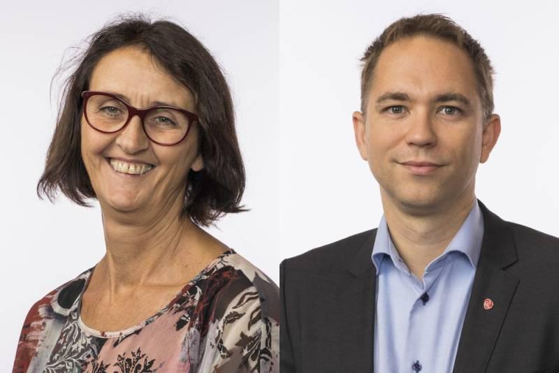 Stortingsrepresentantene Kari Henriksen og Tellef Inge Mørland